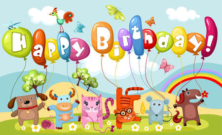 birthday card Stock Vector - 10510385