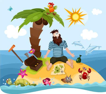 eiland Vector Illustratie