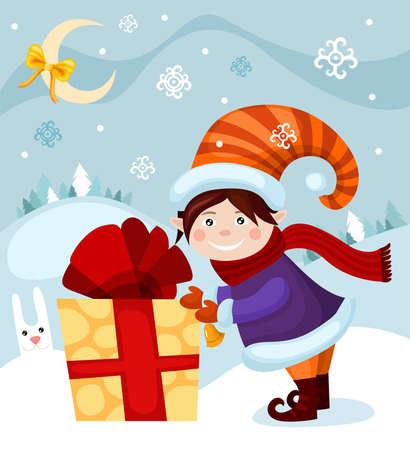 childrens book: christmas card