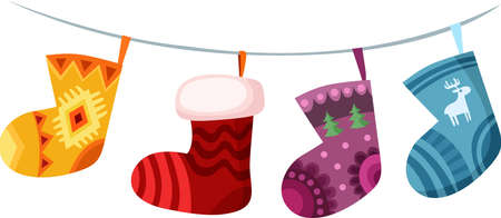 christmas stocking Illustration
