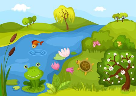 animal fauna: background Illustration