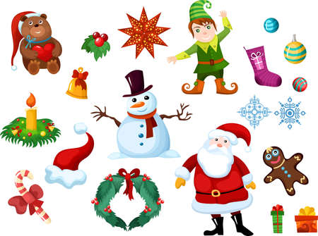 christmas eslement set Vector