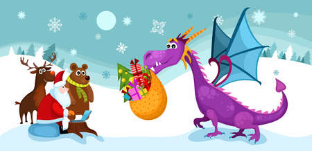 christmas dragon: christmas card