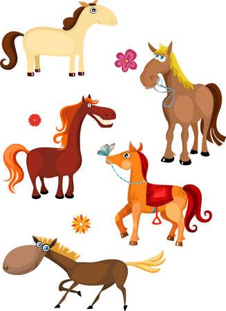 caballo conjunto Ilustración de vector
