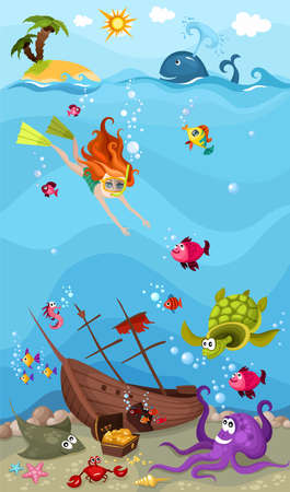 sea life Stock Vector - 11451207
