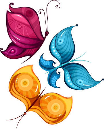 butterfly set Stock Vector - 11562076