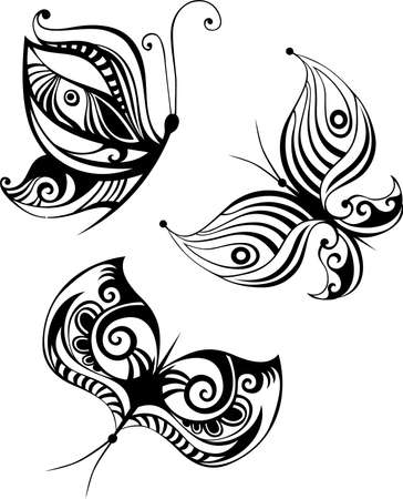 butterfly set Stock Vector - 11562075