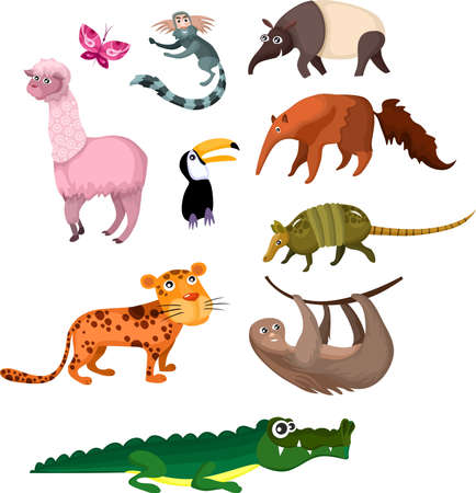dieren set Stock Illustratie