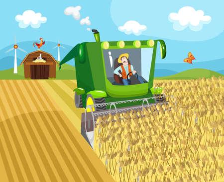combinar: granja Vectores