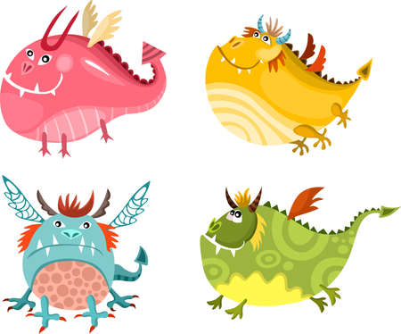 dragon set Vector