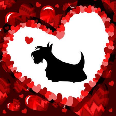 dog gift: Valentine card