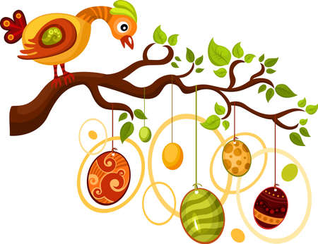 easter tree: easter card