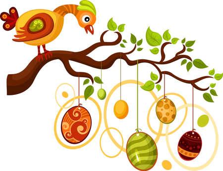 arbol de pascua: tarjeta de Pascua