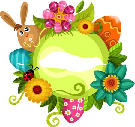 bunny rabbit: tarjeta de Pascua