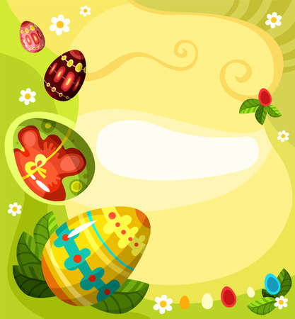 greeting card background: easter card