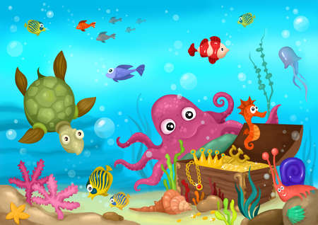 seabed: sea life Stock Photo