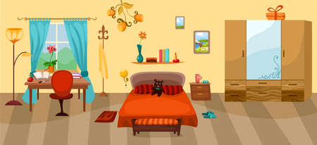 suburb: bedroom Illustration