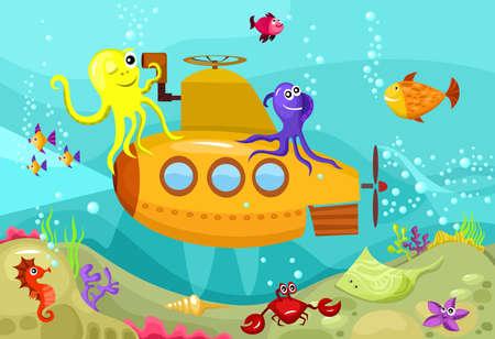 fondali marini: sottomarino