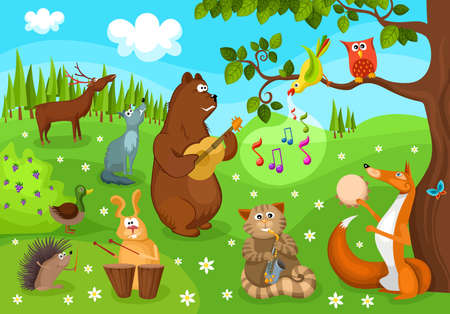 concert audience: forest concert Illustration