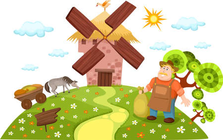 miller: windmill Illustration