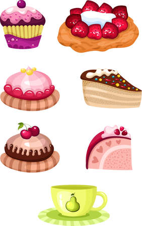 cake set Stock Vector - 13457390