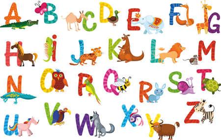 pato caricatura: Alfabeto de animales