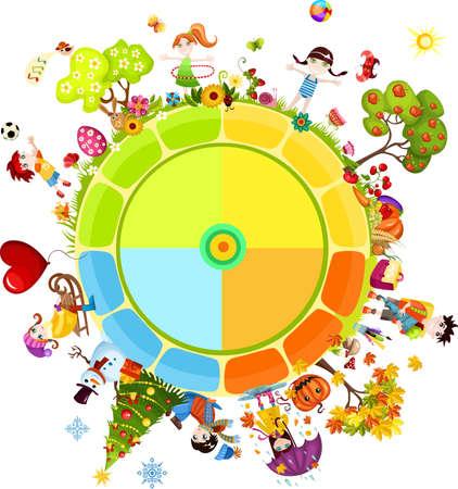 seasons of the year Illustration