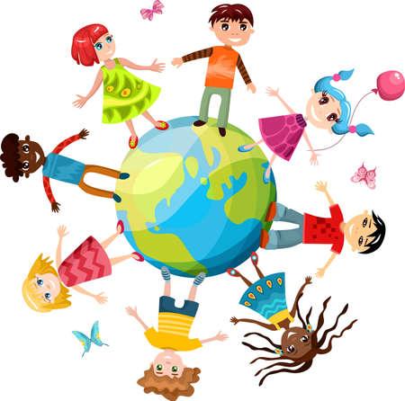 children ih the world Stock Vector - 13874762