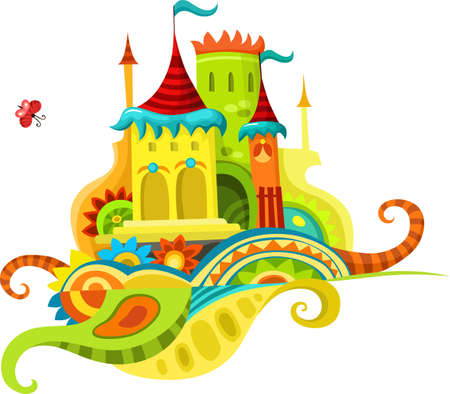 fairytale background: castle