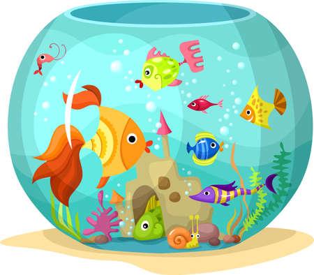 pez pecera: acuario Vectores