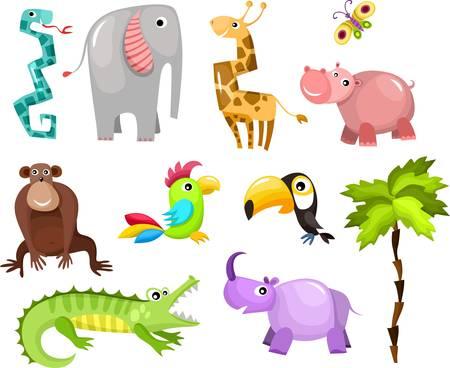 животные: африканских животных Иллюстрация