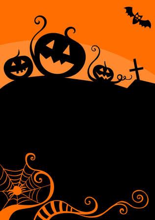 halloween card Illusztráció