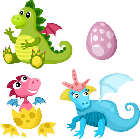dinosaurio caricatura: dino conjunto