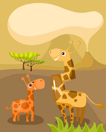 giraffa camelopardalis: african card
