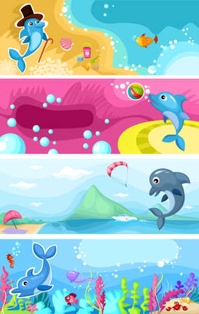 balls deep: sea life background