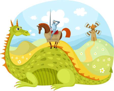竜と騎士 写真素材 - 14670488