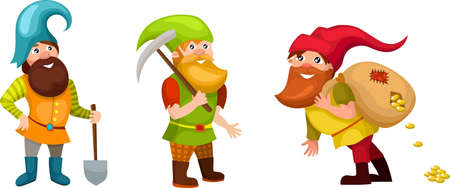 dwarf set Stock Vector - 14670429