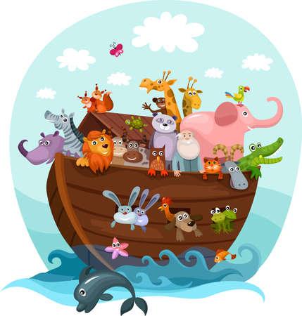 cartoon window: Noah s Ark