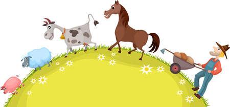 farm card Stock Vector - 15172272