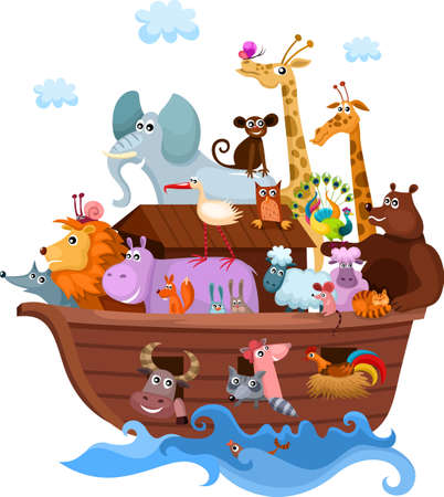 cute cartoon monkey: Noah s Ark