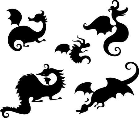creature of fantasy: dragon set Illustration