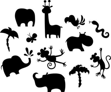 hippopotamus: african animal set