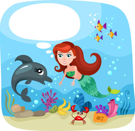 seabed: mermaid Illustration