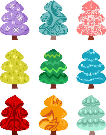 christmas trees: tree set