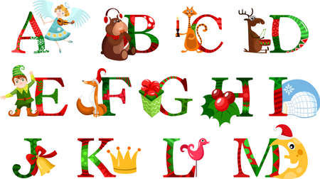 christmas alphabet Stock Vector - 17761687