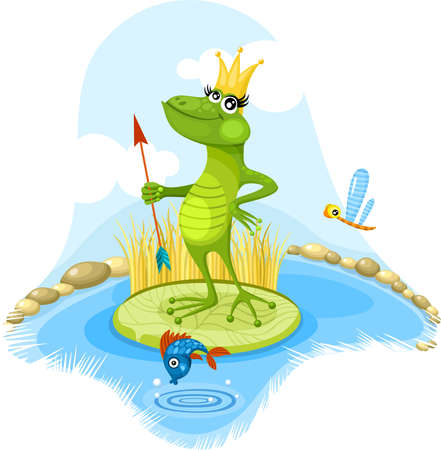 fairytales frog Vector