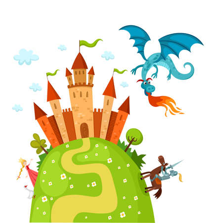 fantasy castle: dragon
