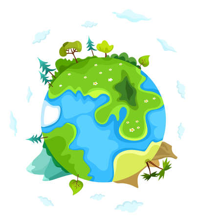 country life: vector earth illustration Illustration
