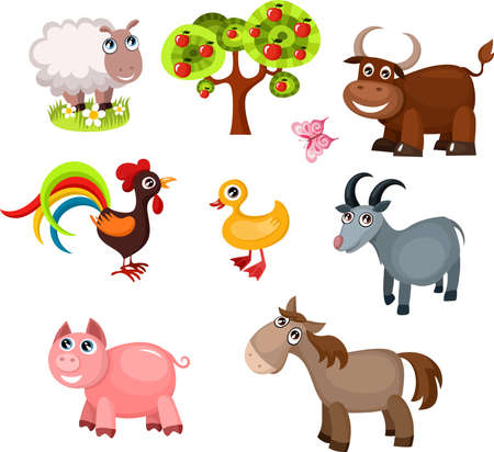 farm animals Stock Vector - 20386486