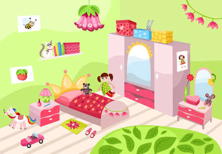 girls room Stock Vector - 20750430